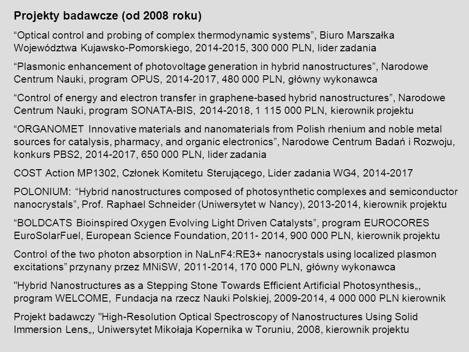 Projekty badawcze (od 2008 roku)