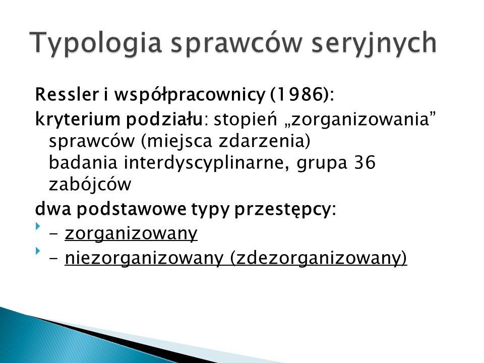 Typologia sprawców seryjnych