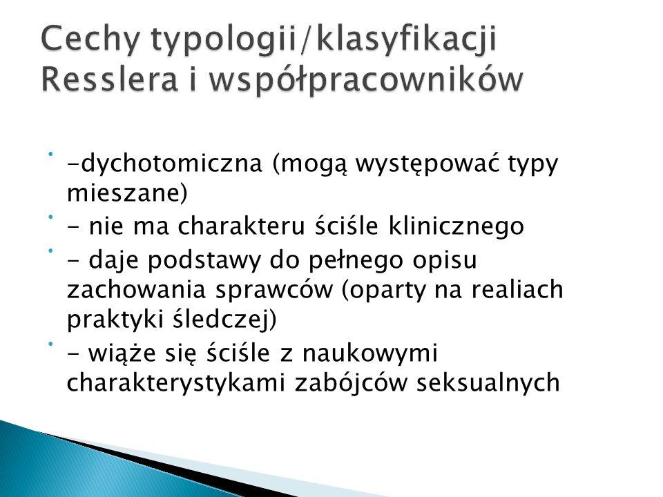 Cechy typologii/klasyfikacji Resslera i współpracowników