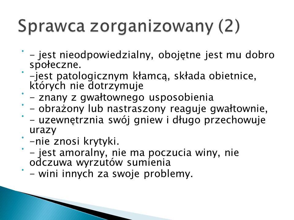 Sprawca zorganizowany (2)