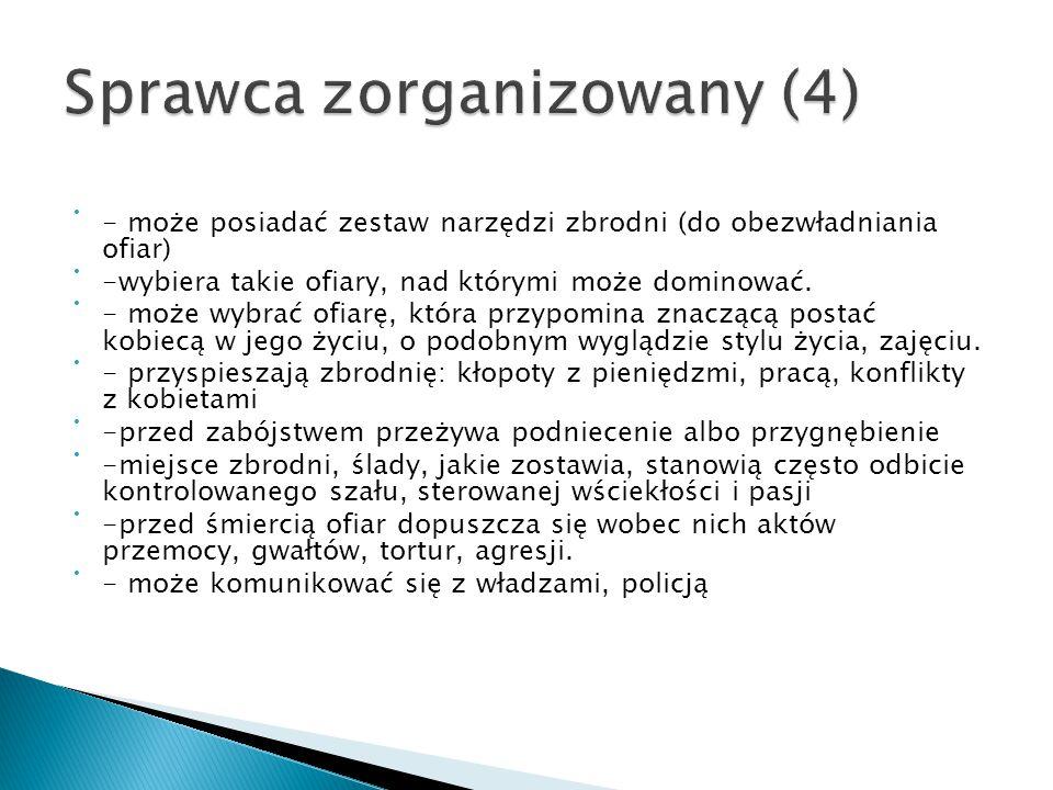 Sprawca zorganizowany (4)