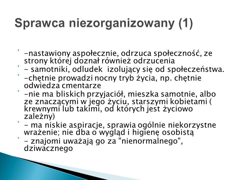 Sprawca niezorganizowany (1)