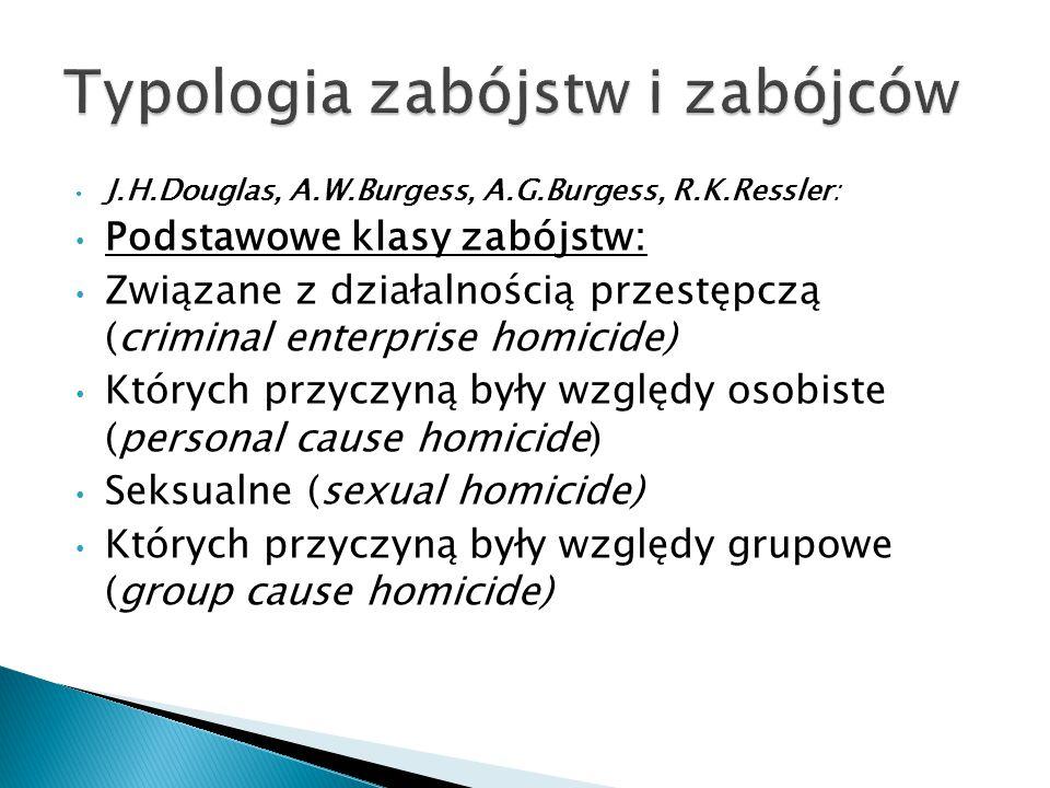 Typologia zabójstw i zabójców