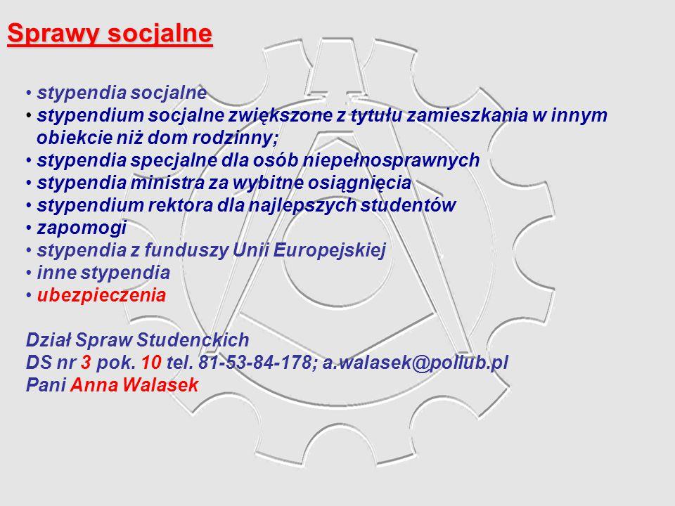 Sprawy socjalne stypendia socjalne