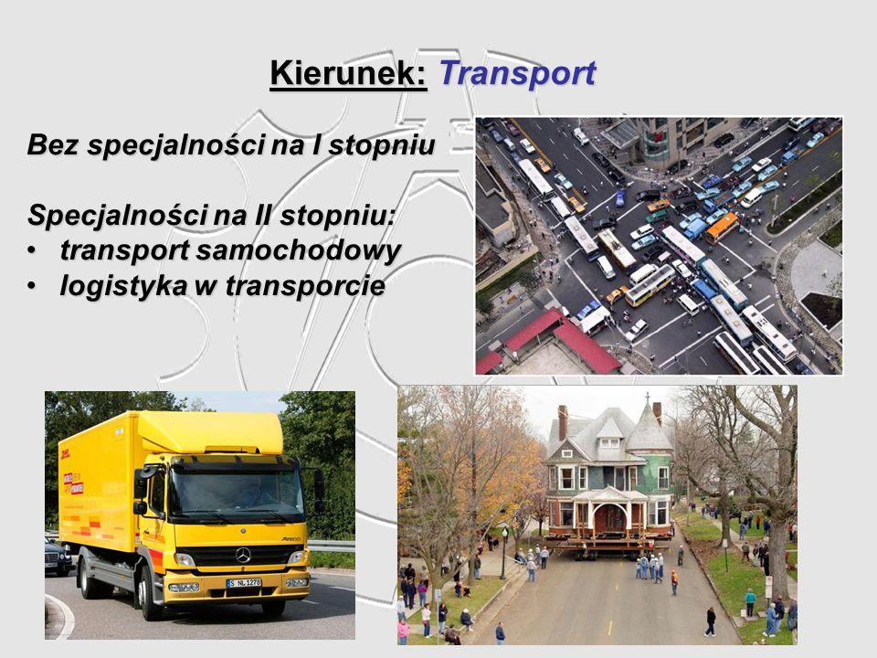 Kierunek: Transport Bez specjalności na I stopniu