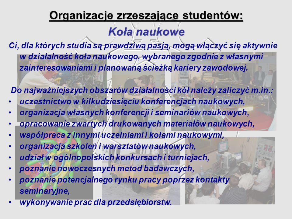 Organizacje zrzeszające studentów: Koła naukowe