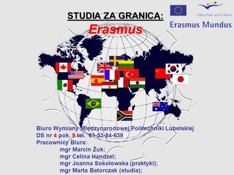 STUDIA ZA GRANICĄ: Erasmus