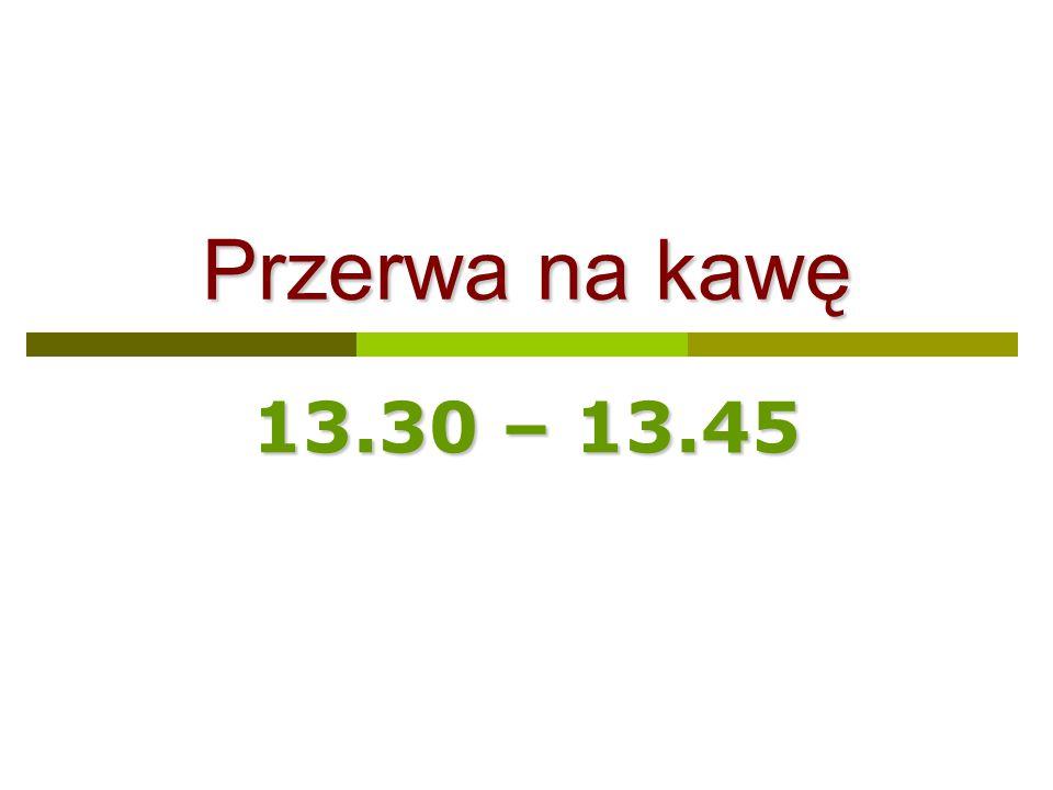 Przerwa na kawę 13.30 – 13.45