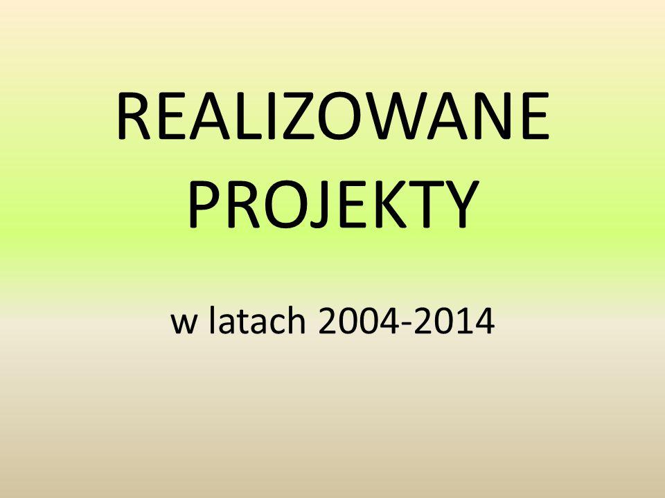 REALIZOWANE PROJEKTY w latach 2004-2014