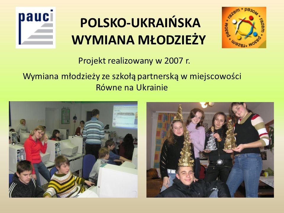 POLSKO-UKRAIŃSKA WYMIANA MŁODZIEŻY