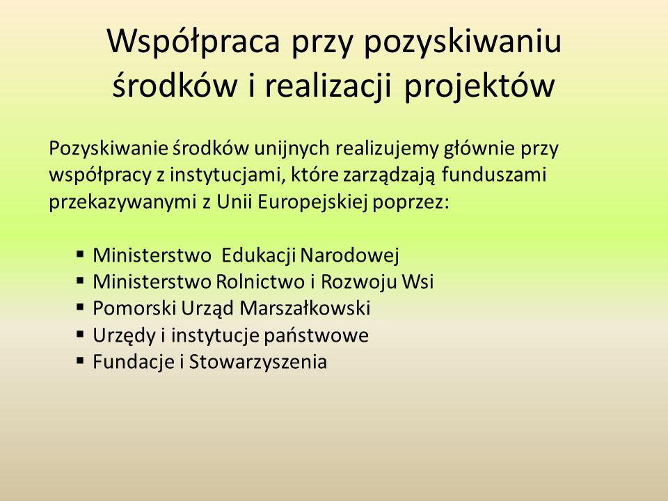 Współpraca przy pozyskiwaniu środków i realizacji projektów