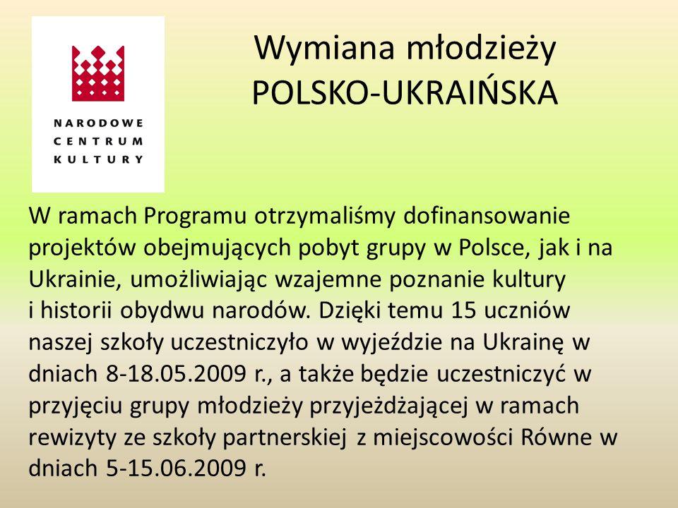 Wymiana młodzieży POLSKO-UKRAIŃSKA