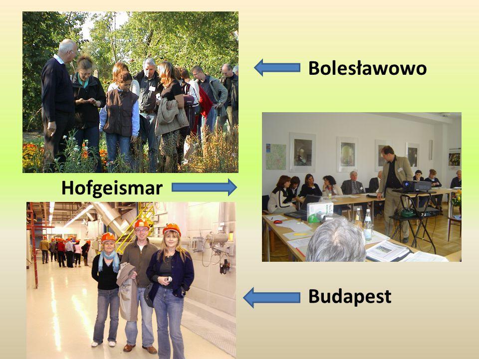 Bolesławowo Hofgeismar Budapest