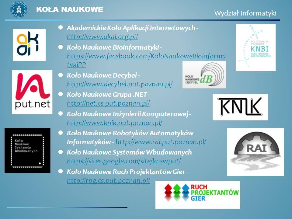 Koła naukowe Wydział Informatyki. Akademickie Koło Aplikacji Internetowych - http://www.akai.org.pl/