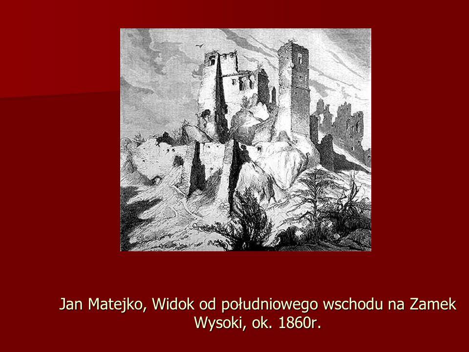 Jan Matejko, Widok od południowego wschodu na Zamek Wysoki, ok. 1860r.