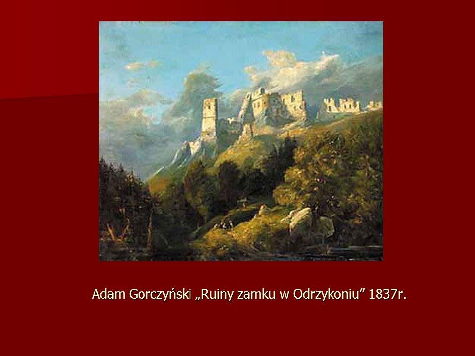 """Adam Gorczyński """"Ruiny zamku w Odrzykoniu 1837r."""