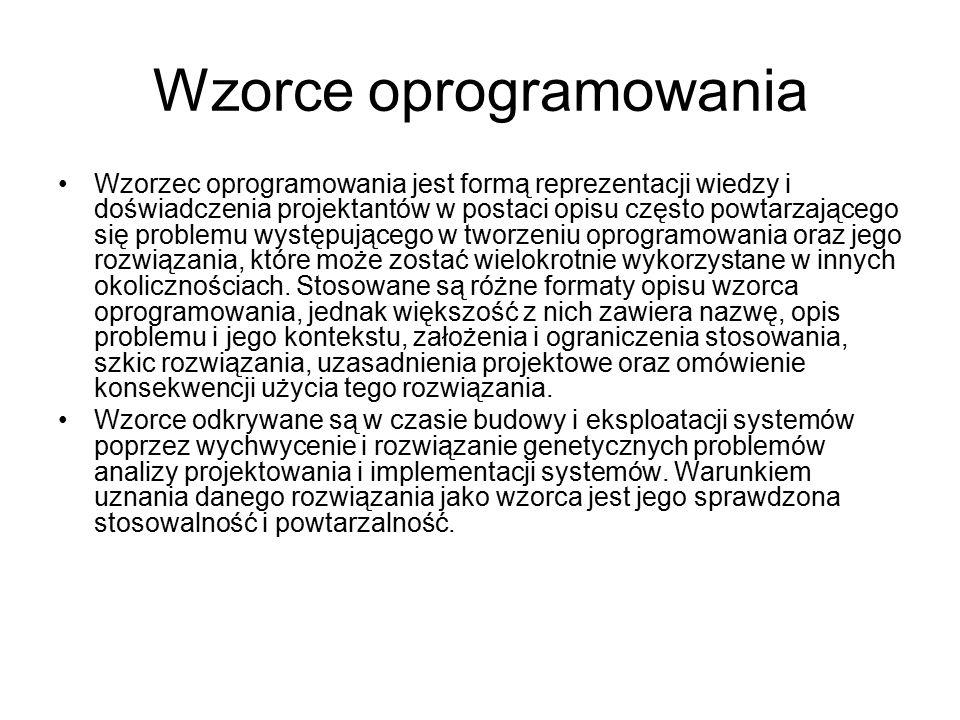Wzorce oprogramowania
