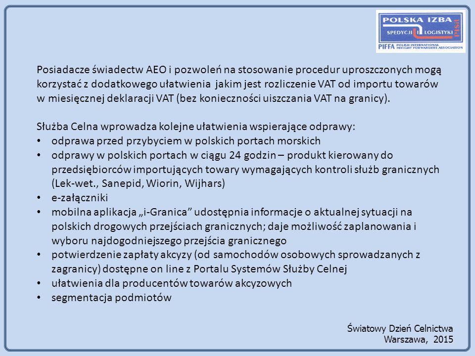 Służba Celna wprowadza kolejne ułatwienia wspierające odprawy: