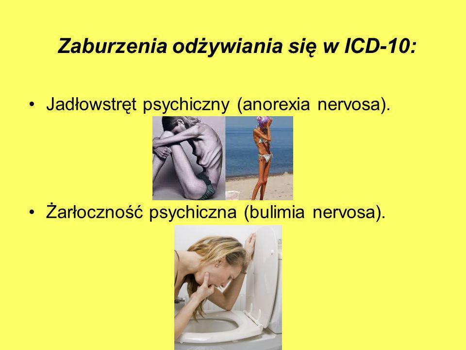 Zaburzenia odżywiania się w ICD-10: