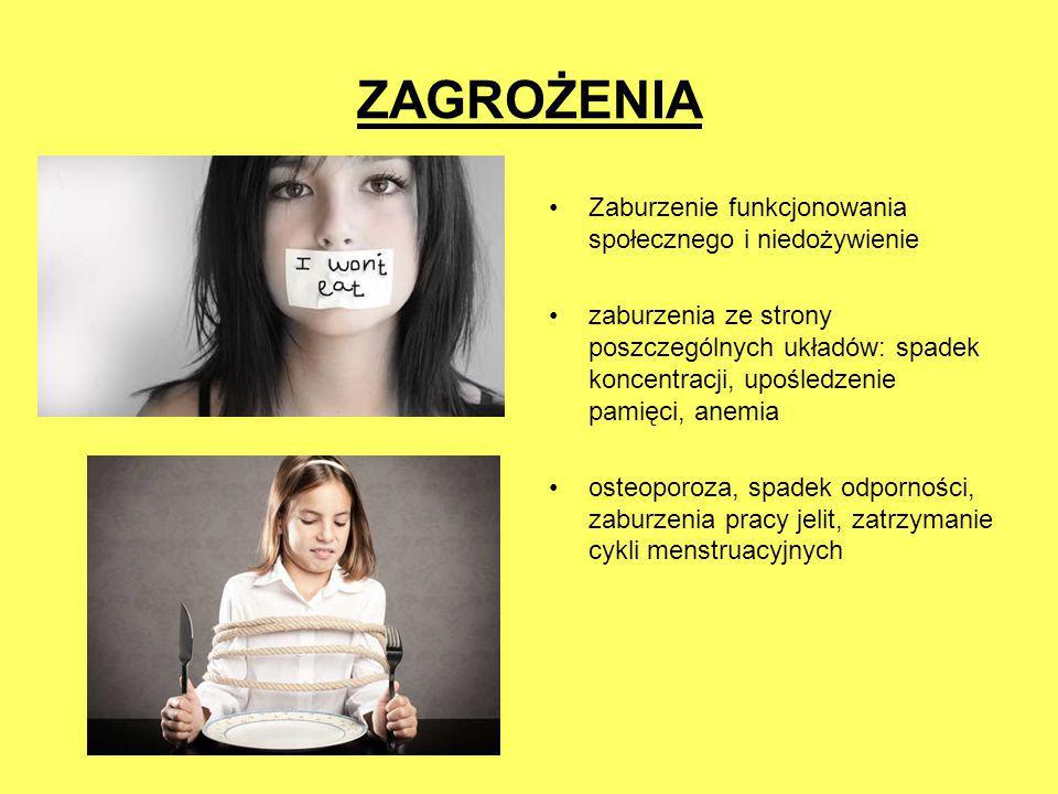 ZAGROŻENIA Zaburzenie funkcjonowania społecznego i niedożywienie