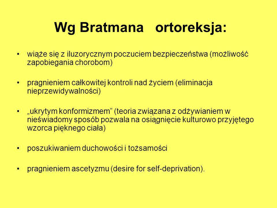 Wg Bratmana ortoreksja: