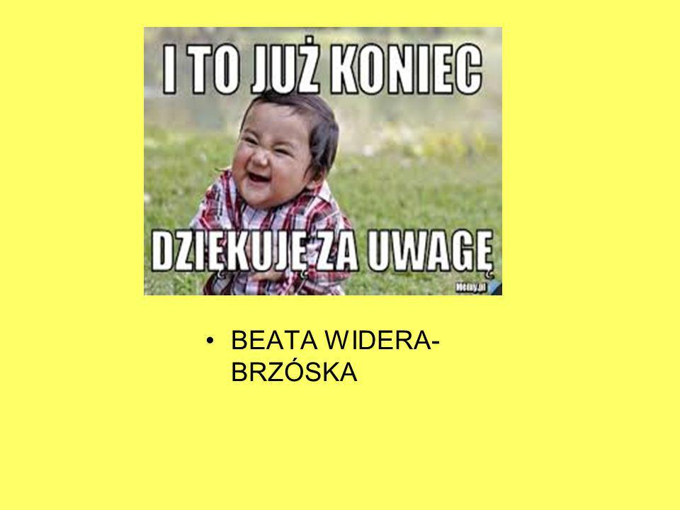 BEATA WIDERA-BRZÓSKA