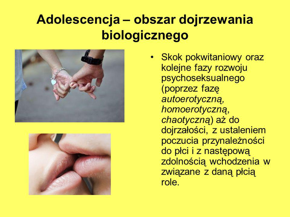 Adolescencja – obszar dojrzewania biologicznego