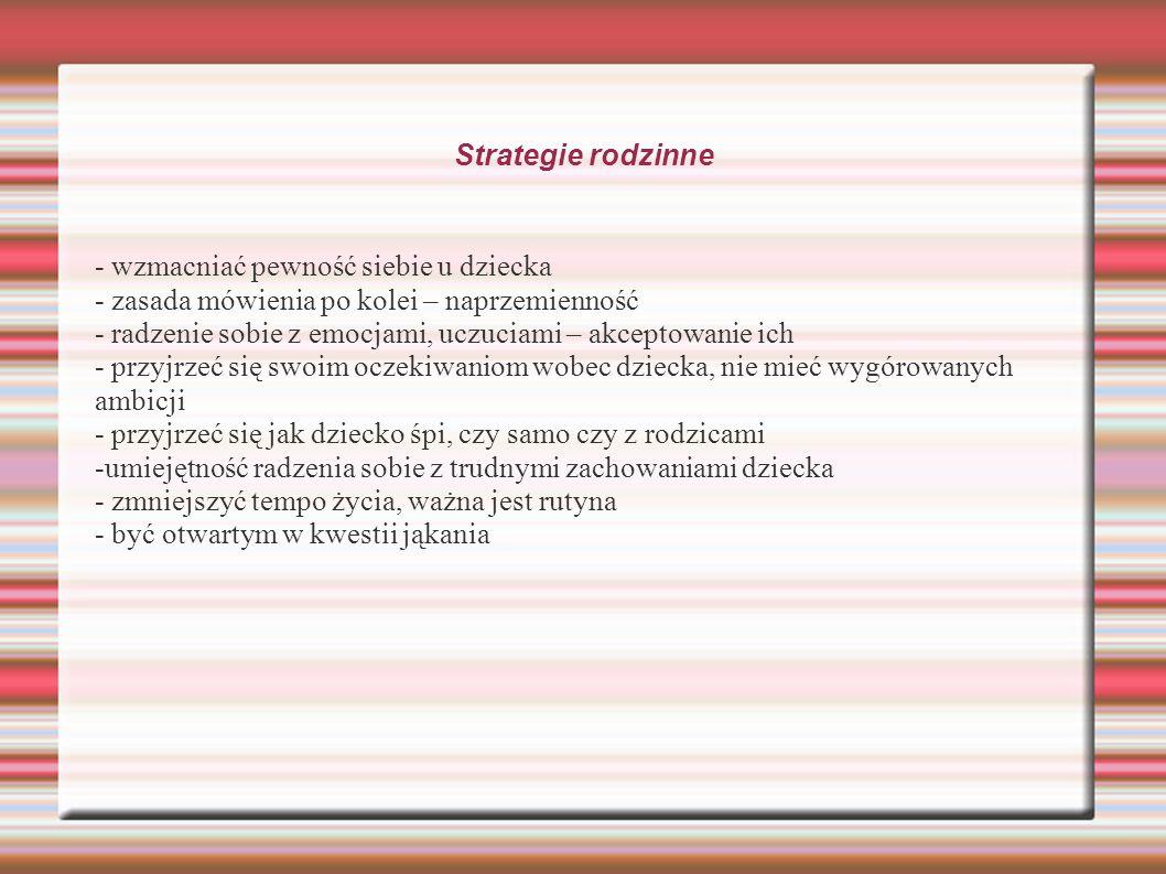 Strategie rodzinne - wzmacniać pewność siebie u dziecka. - zasada mówienia po kolei – naprzemienność.