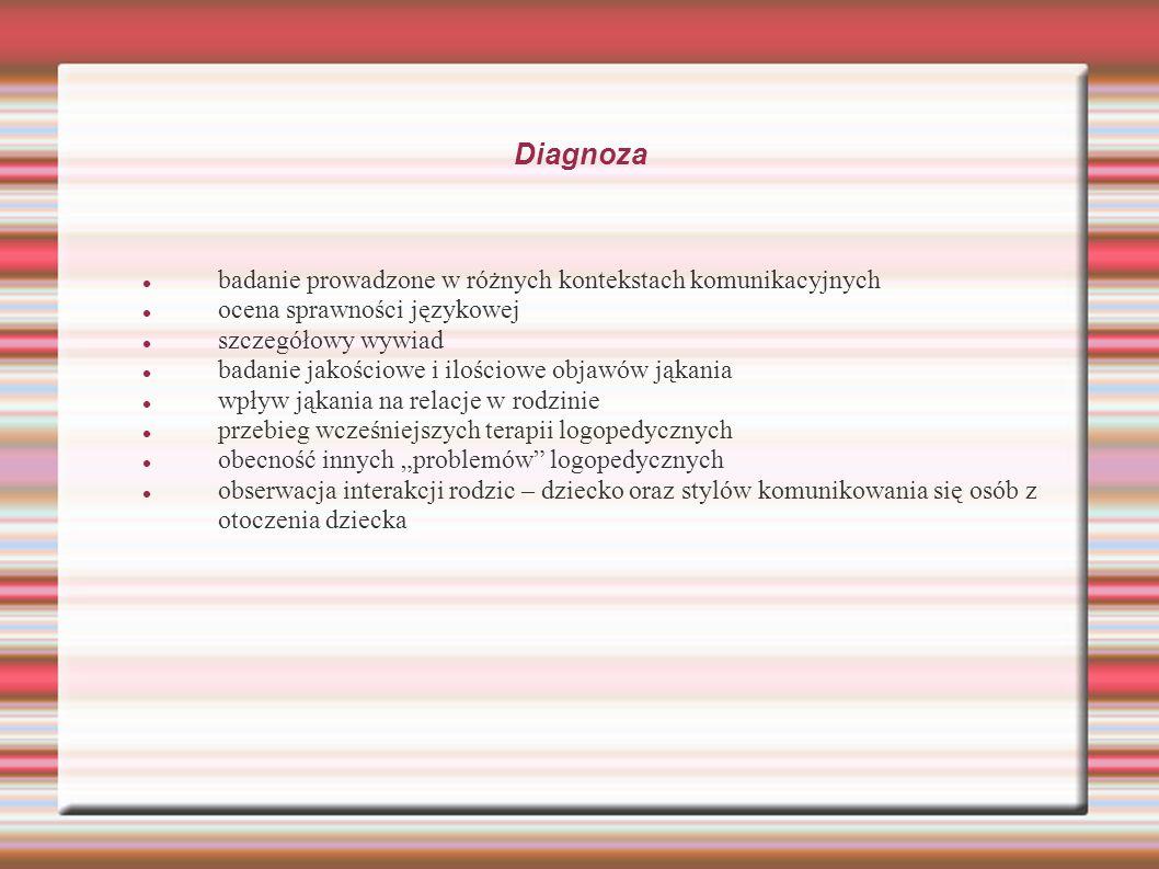 Diagnoza badanie prowadzone w różnych kontekstach komunikacyjnych