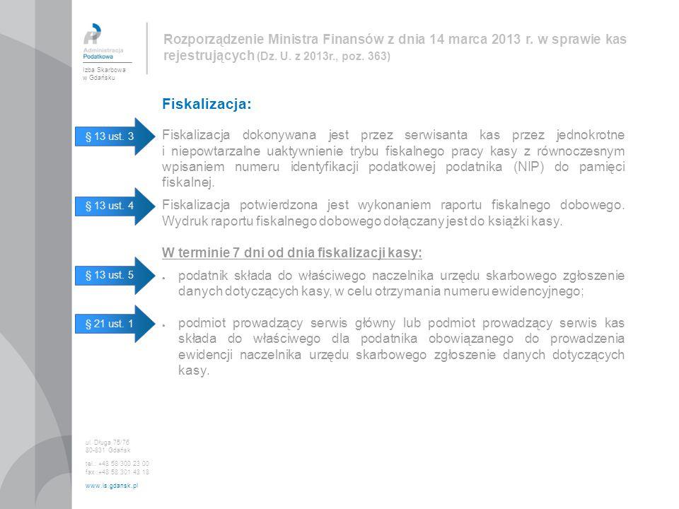 Rozporządzenie Ministra Finansów z dnia 14 marca 2013 r