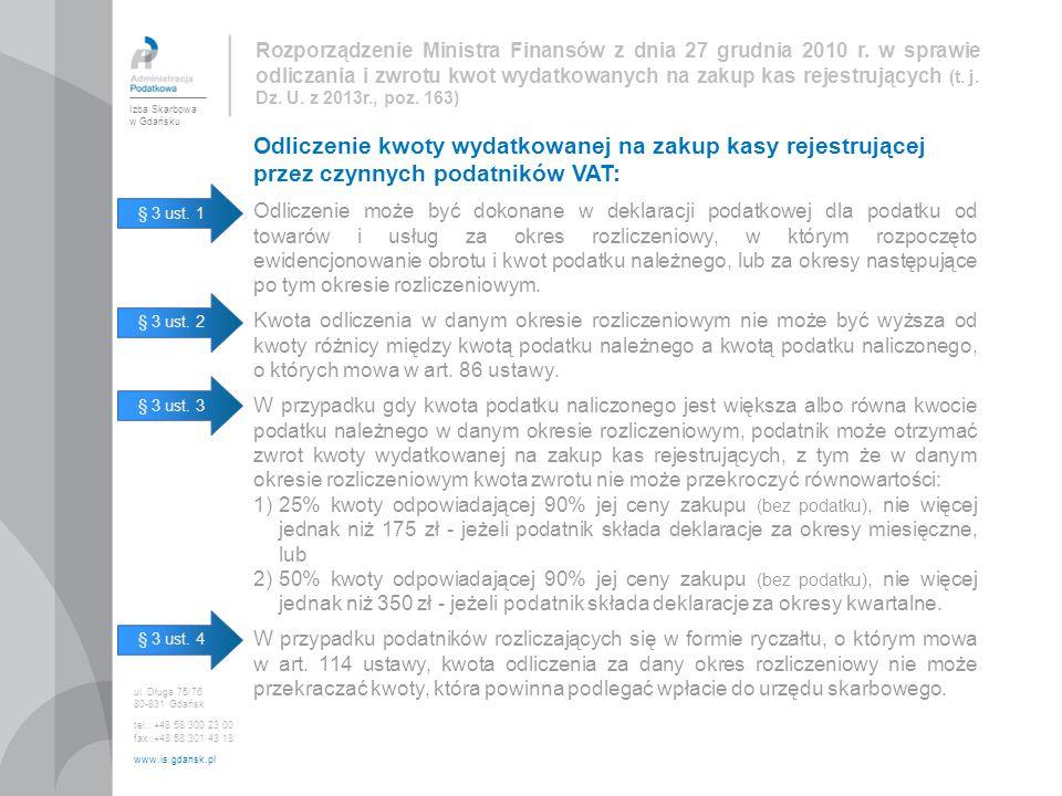 Rozporządzenie Ministra Finansów z dnia 27 grudnia 2010 r