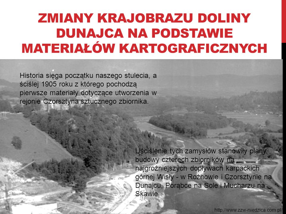 Zmiany krajobrazu Doliny Dunajca na podstawie materiałów kartograficznych