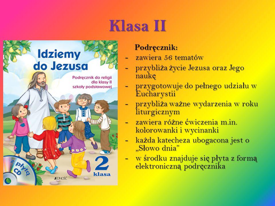 Klasa II Podręcznik: zawiera 56 tematów