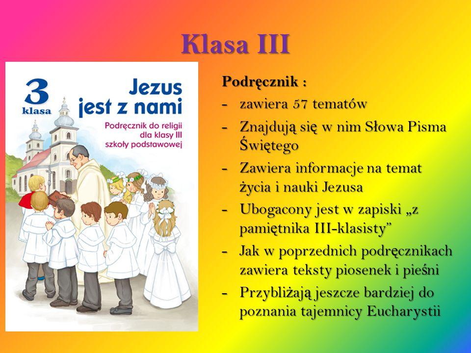 Klasa III Podręcznik : zawiera 57 tematów