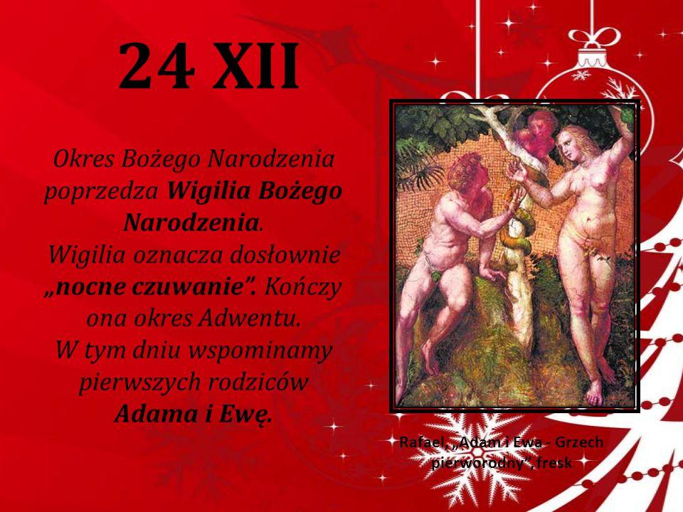 """Rafael, """"Adam i Ewa - Grzech pierworodny , fresk"""