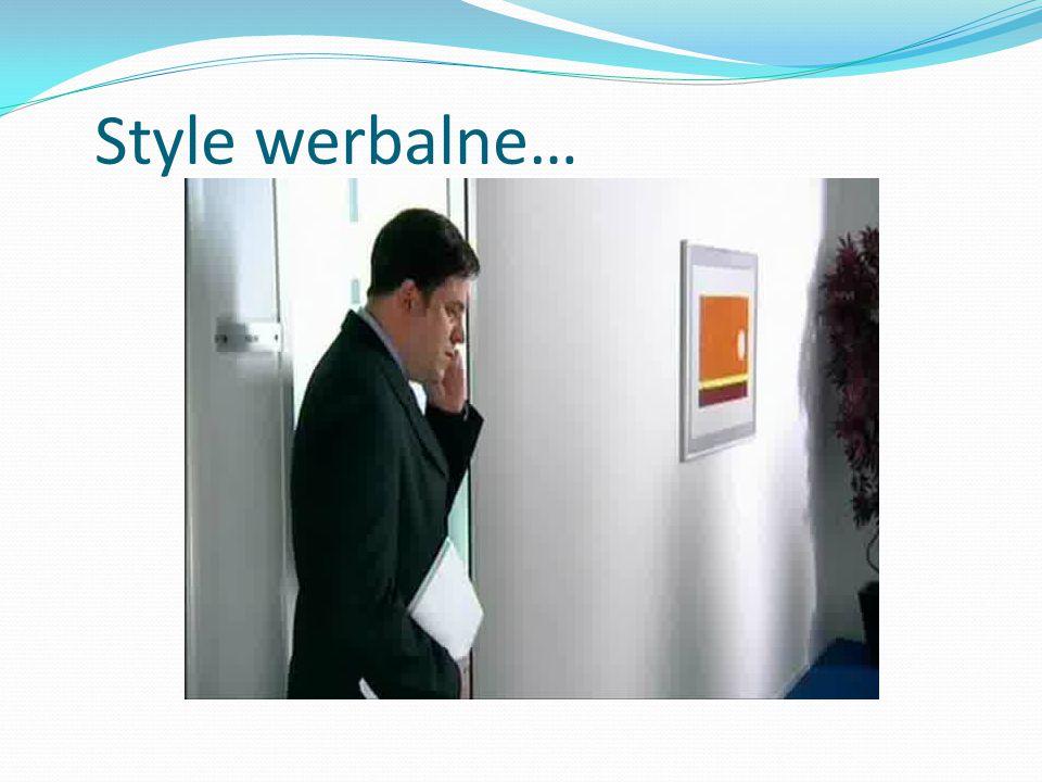 Style werbalne…