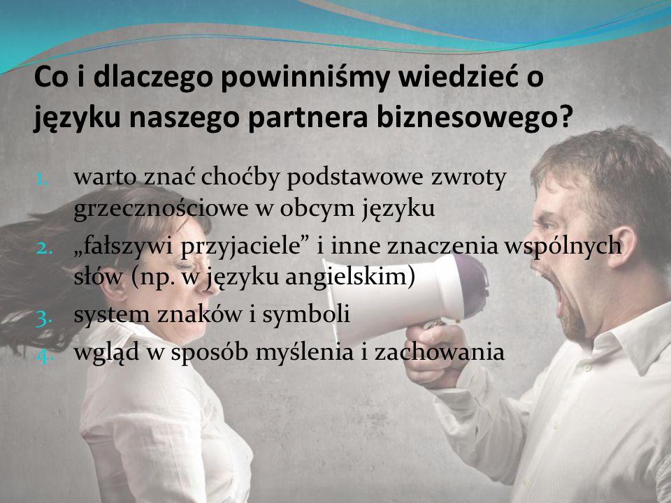 Co i dlaczego powinniśmy wiedzieć o języku naszego partnera biznesowego