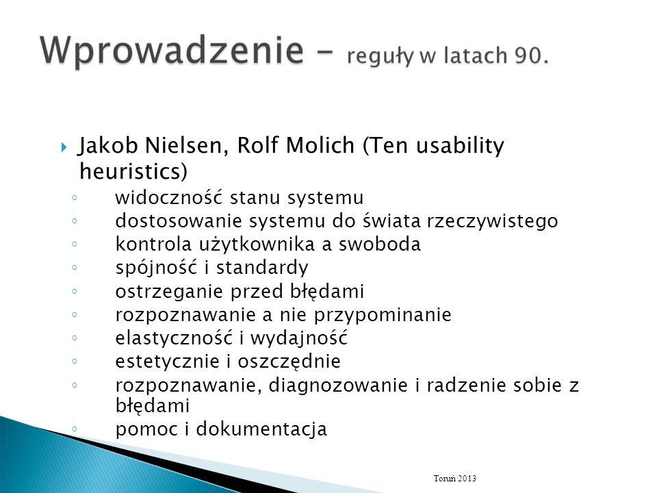 Jakob Nielsen, Rolf Molich (Ten usability heuristics)