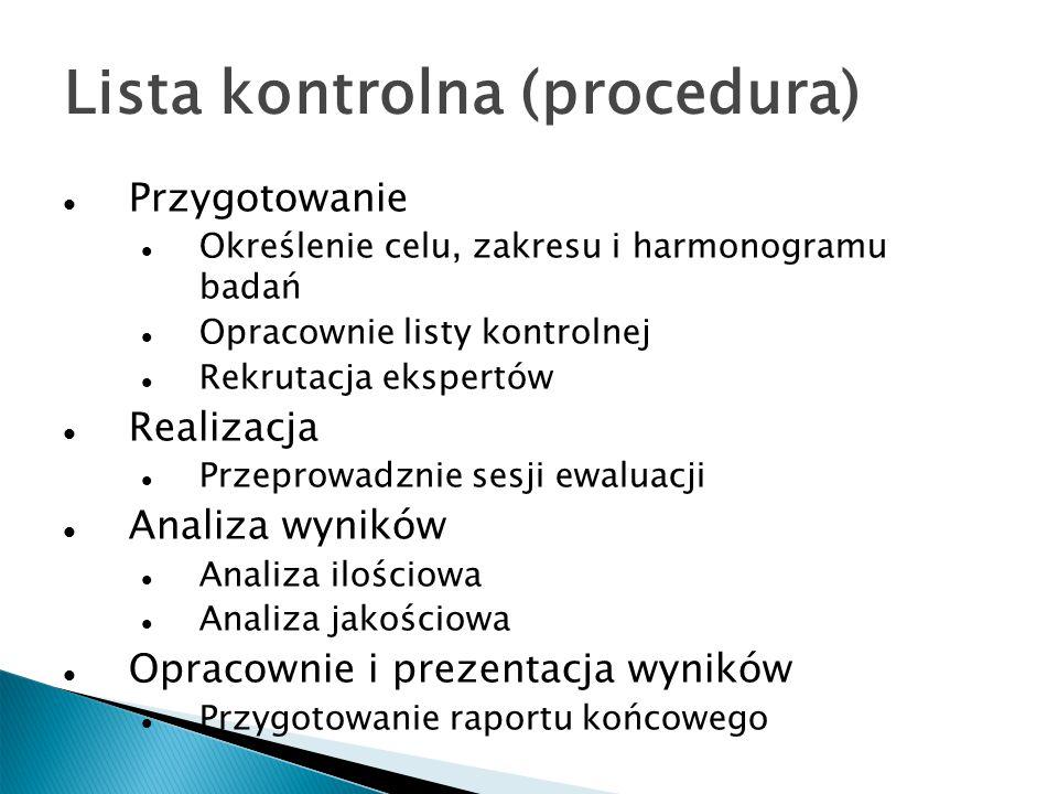 Lista kontrolna (procedura)