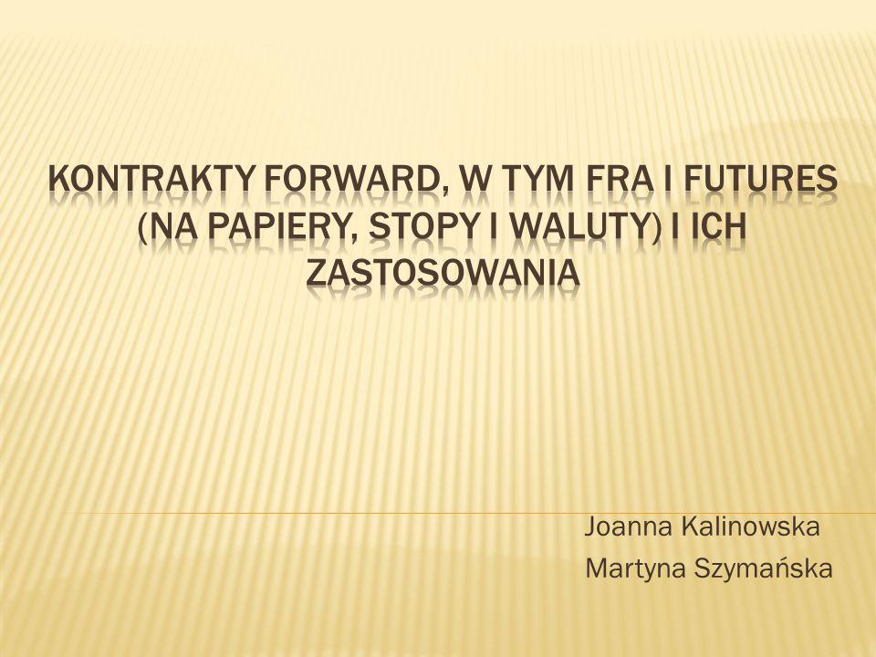 Joanna Kalinowska Martyna Szymańska