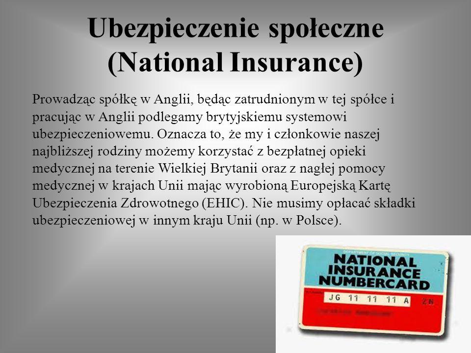 Ubezpieczenie społeczne (National Insurance)