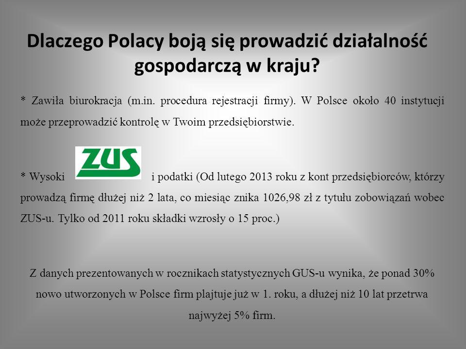 Dlaczego Polacy boją się prowadzić działalność gospodarczą w kraju