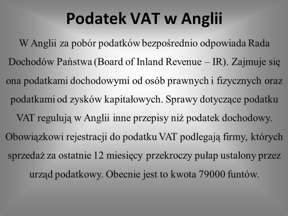 Podatek VAT w Anglii