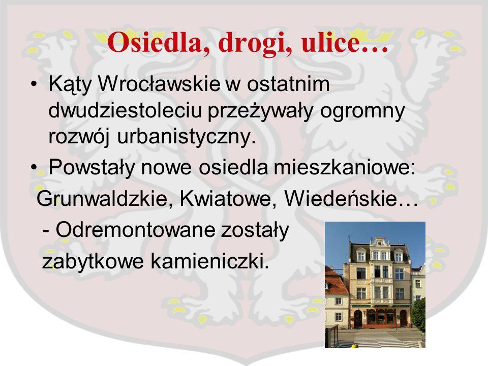Osiedla, drogi, ulice… Kąty Wrocławskie w ostatnim dwudziestoleciu przeżywały ogromny rozwój urbanistyczny.