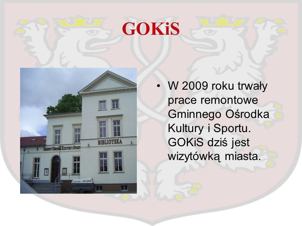 GOKiS W 2009 roku trwały prace remontowe Gminnego Ośrodka Kultury i Sportu.