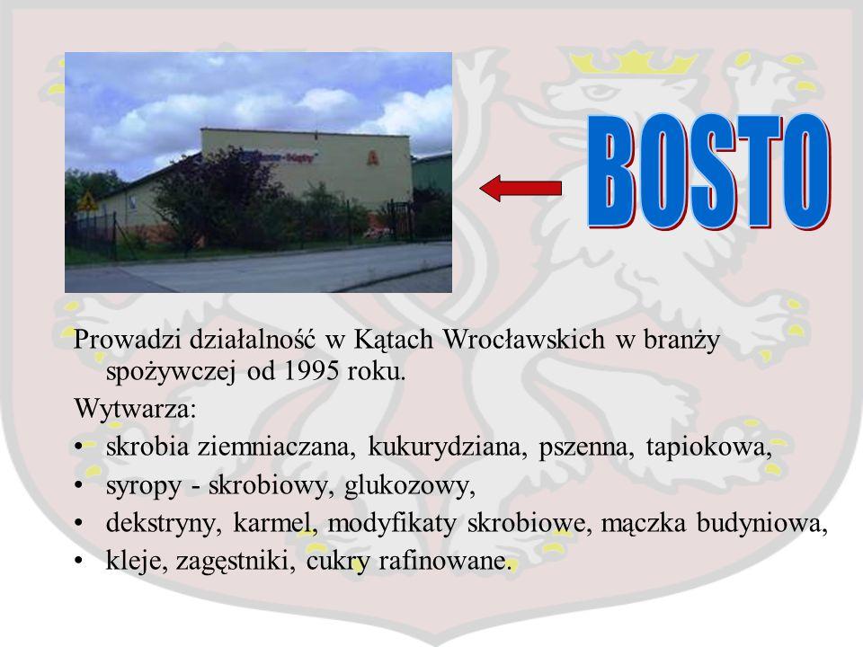 BOSTO Prowadzi działalność w Kątach Wrocławskich w branży spożywczej od 1995 roku. Wytwarza: