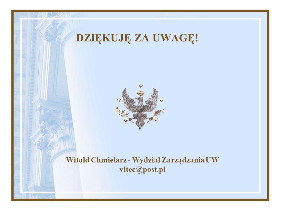 Witold Chmielarz - Wydział Zarządzania UW
