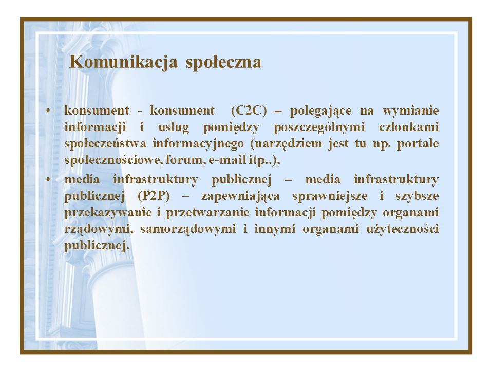 Komunikacja społeczna