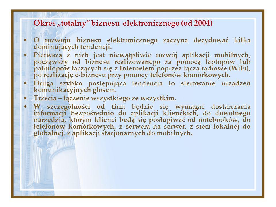 """Okres """"totalny biznesu elektronicznego (od 2004)"""