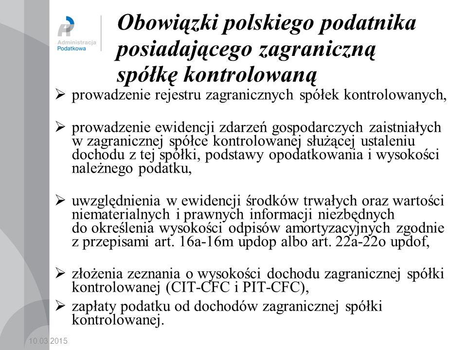 Obowiązki polskiego podatnika posiadającego zagraniczną spółkę kontrolowaną